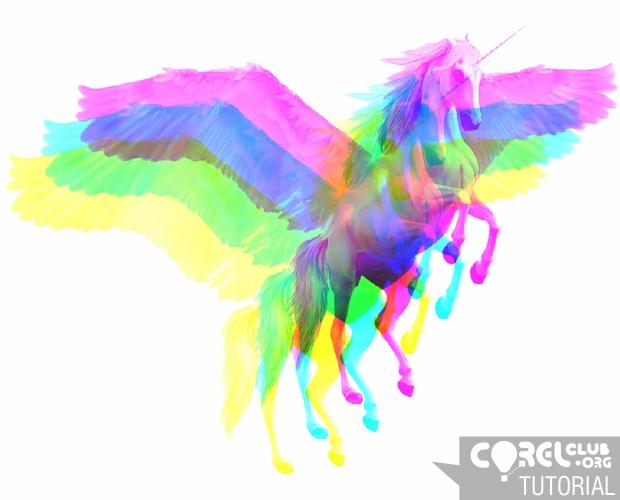 Resultado final tutorial EFECTO ANAGLIFO Multicolor
