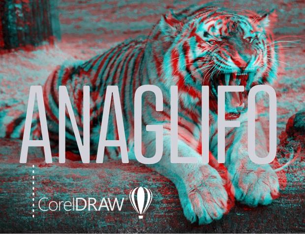 Otro ejemplo del efecto ANAGLIFO aplicado en CorelDRAW