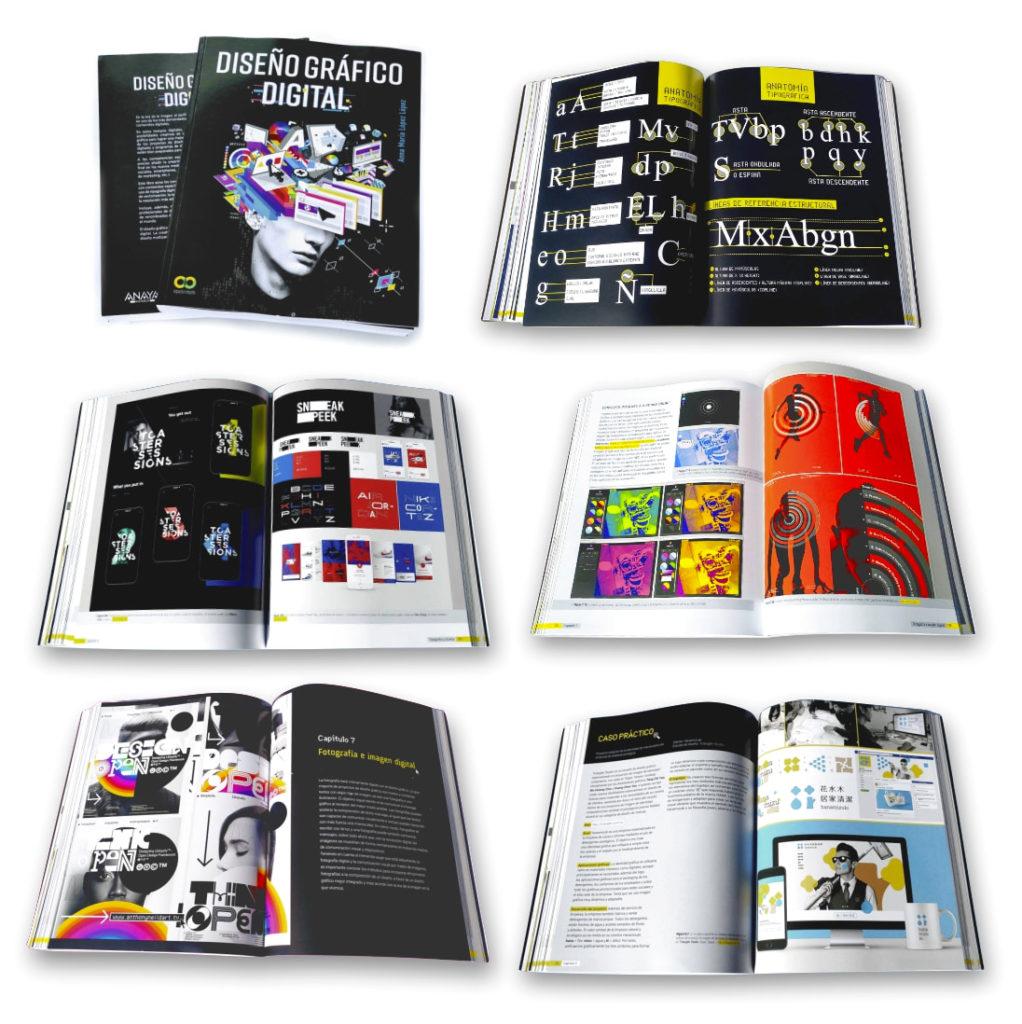Ejemplos de diseño gráfico digital en el libro DISEÑO GRAFICO DIGITAL