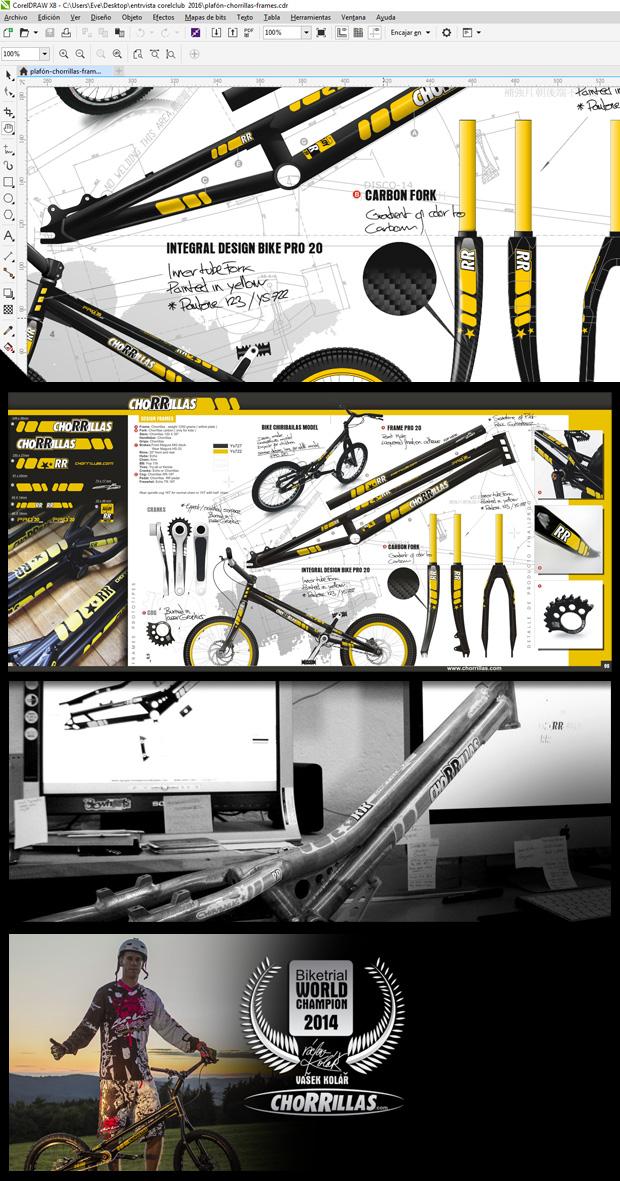 Diseño equipación CHORRILLAS TEAM por Vallribera en CorelDRAW