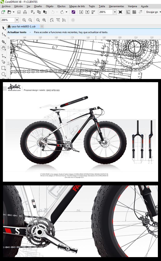 Diseño MTB con CorelDRAW por Vallribera