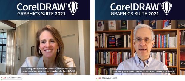 Evento virtual de presentación CorelDRAW Graphics SUITE 2021