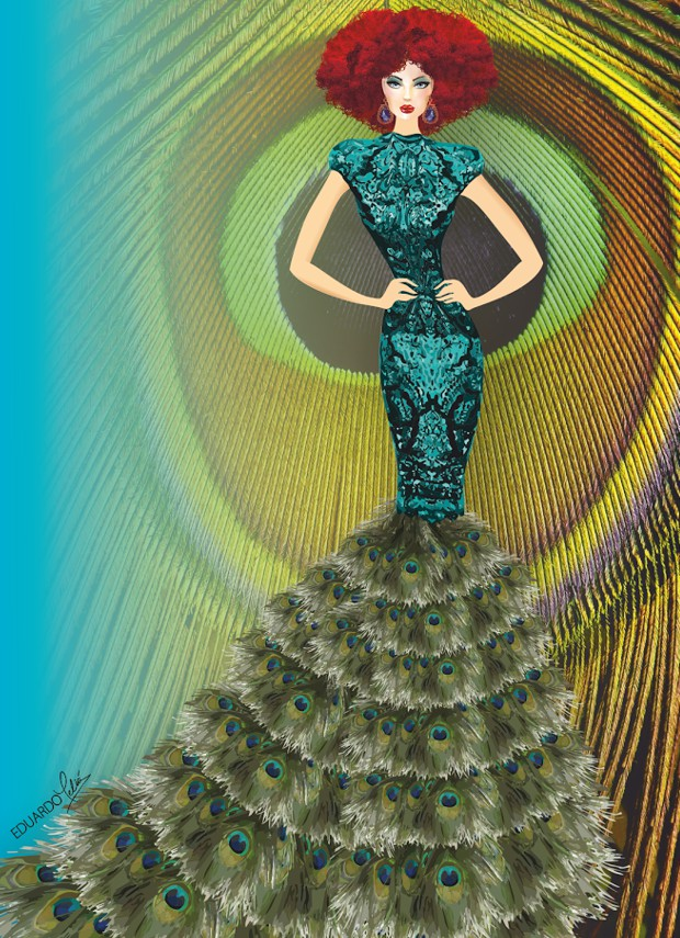Figurín de moda de alta costura Eduardo Meliá