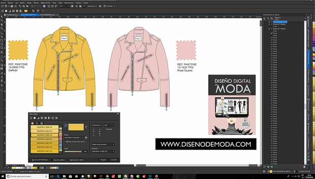 Dibujo de prendas en plano con CorelDRAW