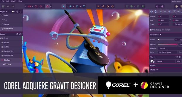 Corel Corporation adquiere Gravit Designer