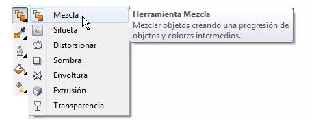 herramienta-Mezcla-CorelDRAW