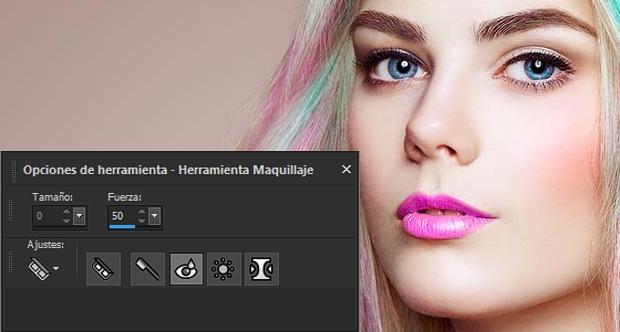 Herramienta Maquillaje PaintShop Pro 2020