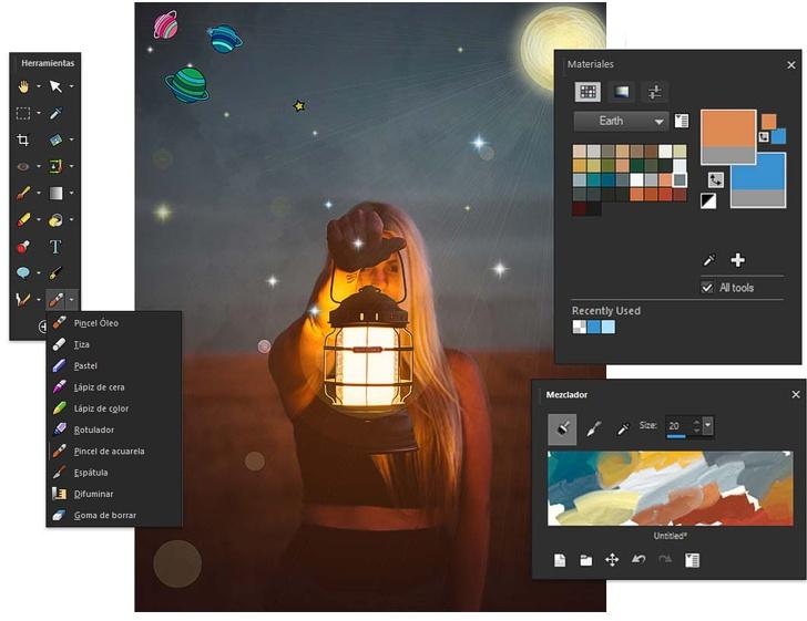 Herramientas de Pintura de PaintShop Pro