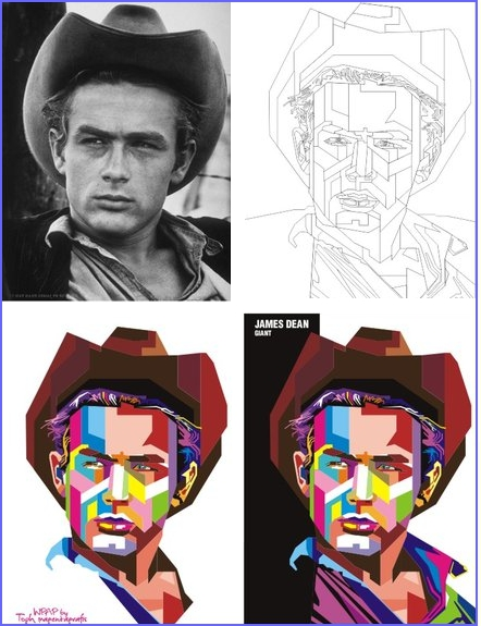 El proceso de creación de un retrato WPAP