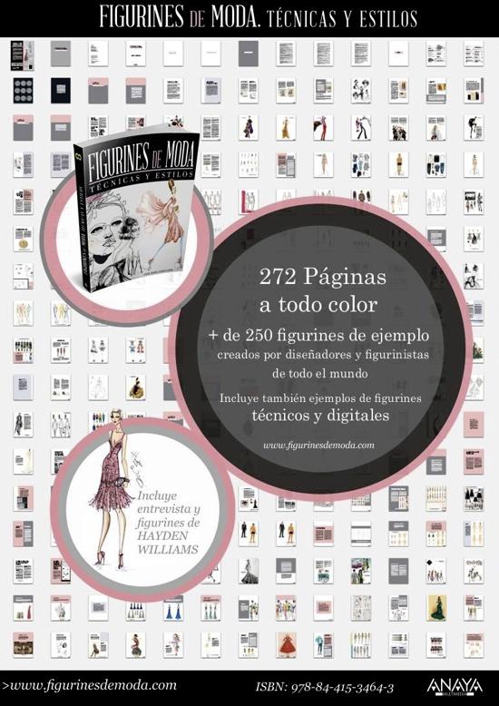 Libro FIGURINES de MODA, Técnicas y Estilos
