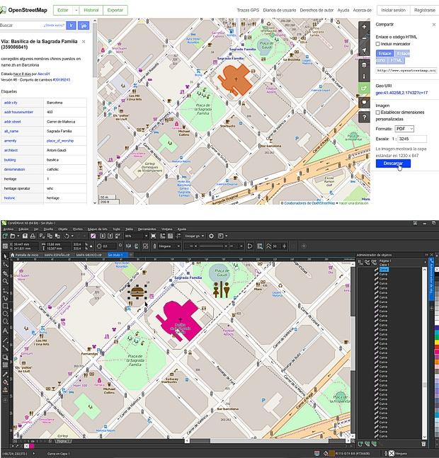 Mapas callejeros vectoriales gratis