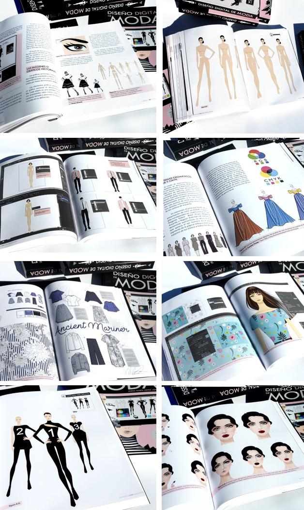 Páginas interiores del libro Diseño Digital de Moda