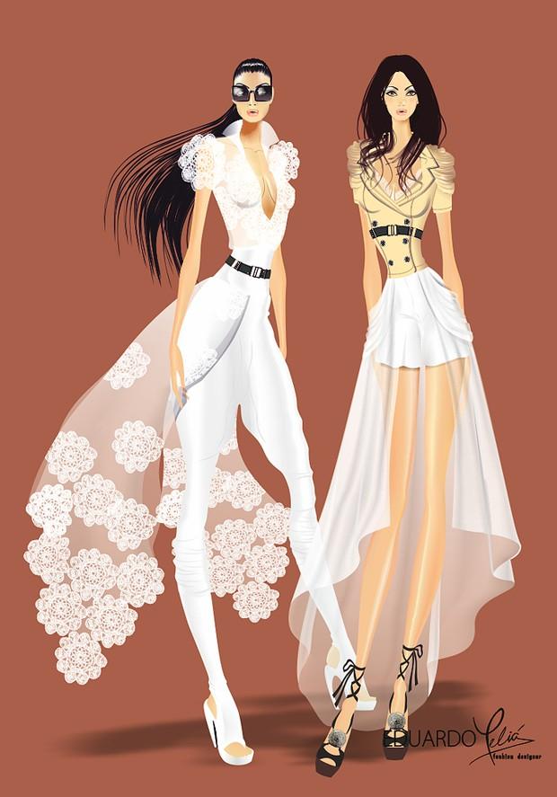 Figurines de modas de Eduardo Meliá
