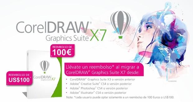 Promoción reembolso de 100 Euros o USD al comprar CorelDRAW X7