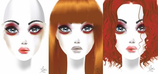 Rostros figurines vectoriales de Eduardo Meliá