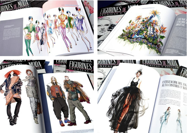 Selección de figurines de moda hombre y mujer
