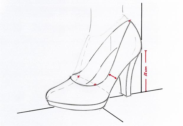 Importar el boceto del zapato