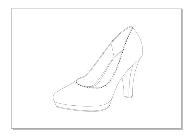 El zapato de tacón terminado