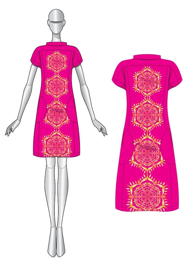 El diseño del vestido con simetría
