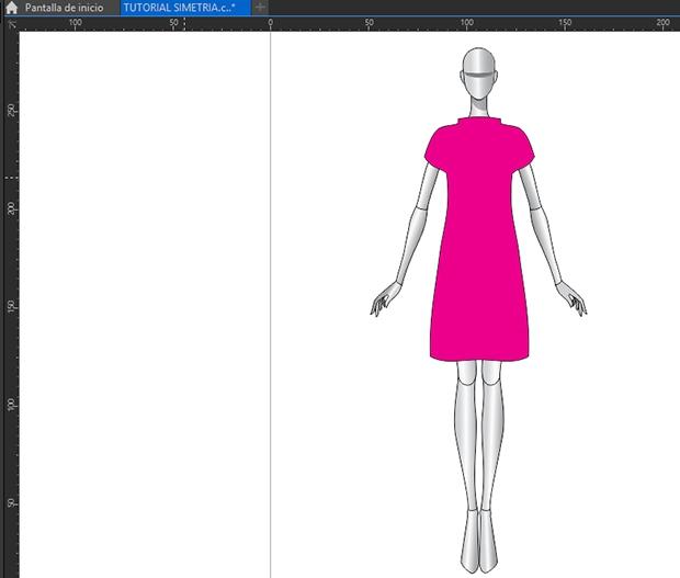 Aplicando color de relleno al vestido