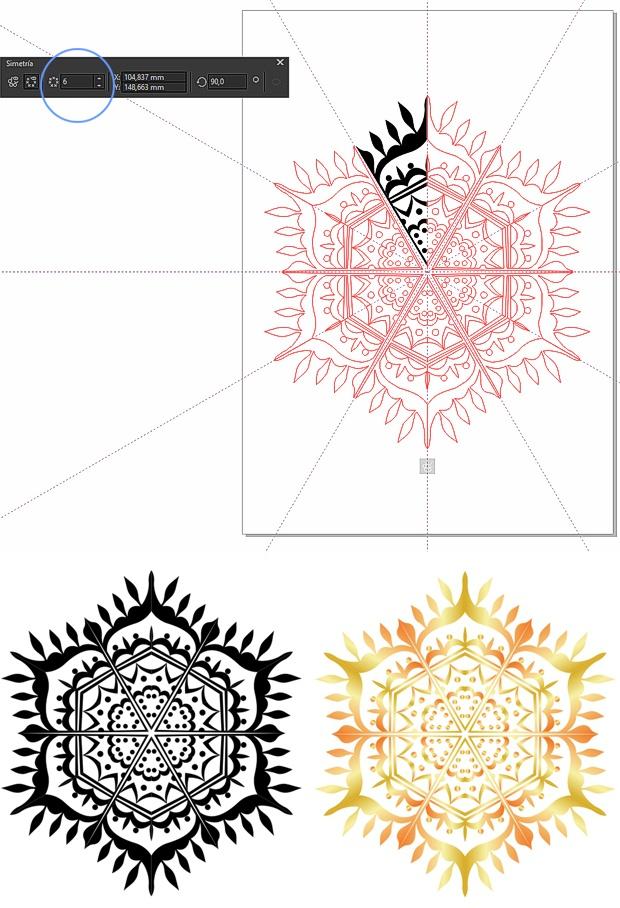 Creando un mandala con simetria