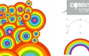 Tutorial fondo psicodélico con pincel de arcoiris en CorelDRAW