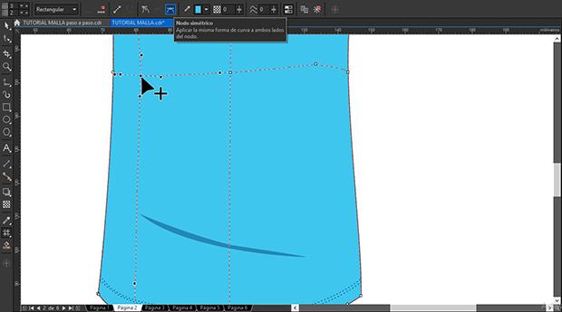 Editando los nodos de la malla