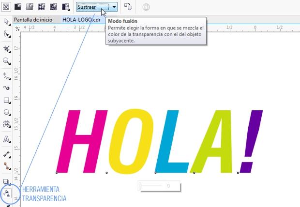 TUTORIAL > Texto multicolor con transparencia en CorelDRAW ...