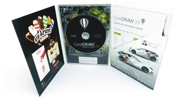 La versión en caja de CorelDRAW X8