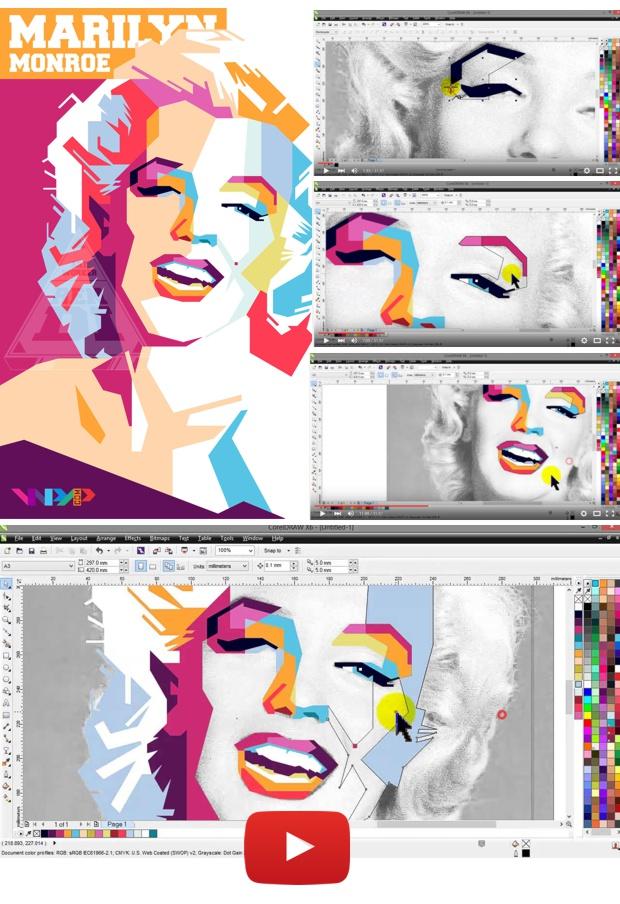 Video Tutorial retrato WPAP con CorelDRAW