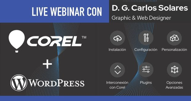 WEBINAR gratuito CORELDRAW + WORDPRESS