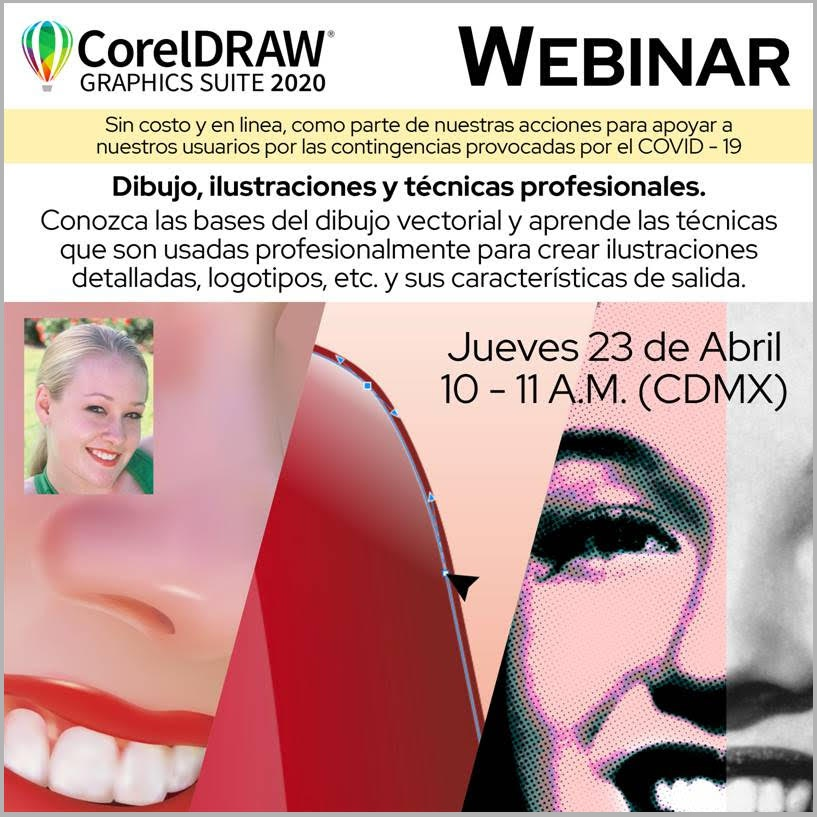 Seminario Web organizado por Corel México sobre Dibujo e ilustración con CorelDRAW